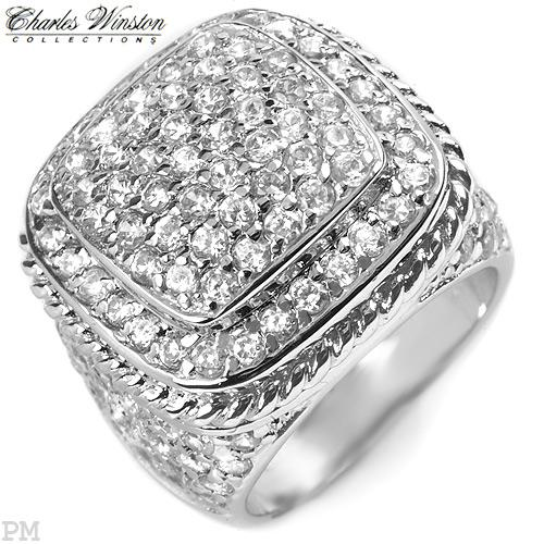 5 carats of CZ brilliance in solid sterling silver sz7