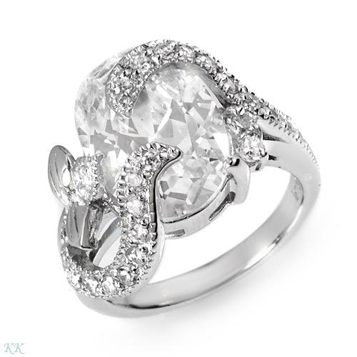 A splash of class with over 16ctw of high density CZ wrapped in sterling silver.