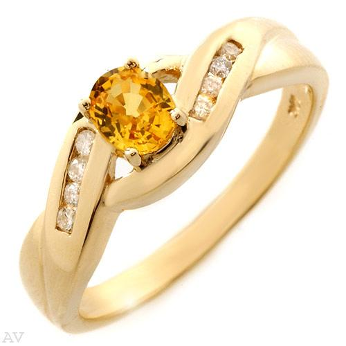 Yellow gold and genuine diamonds and Sapphire for the unassuming