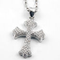 Silver cross 24.5 Length 4.5 extension  1in pendant Just exquisite