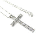 Designer Austrian crystal 2 inch cross with 18 inch necklace