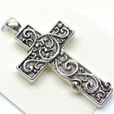 Designer large 3in removable magnetic 40mm cross Pendant