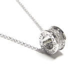 White gold plated designer BVLGARI 17in necklace
