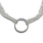 Tiffany round crystal necklace