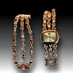 Cristian Benet watch and bracelet Austrian crystals