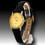 Jules Jurgensen ladies watch  scratch resistant face and leather band