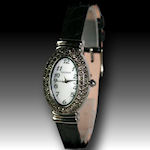 Ladies Waltham Austrian crystal and leather band