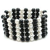 7348 $18 Black and white class act 5 rows that go everywhere, this is a must have