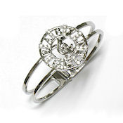 7355 $25 Designer White gold spring hinged