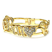 7359 $32 Designer Gold crystals hinged