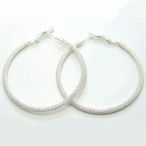 Large mesh hoop silver 2 and half inch