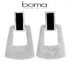 Boma sterling silver with onyx earrings