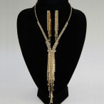 Magnificent this necklace is just that 14in  with 3.5in ext and another 6in drop of rhinestones