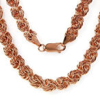 14k Rose Gold over solid sterling silver 19 inch chain necklace