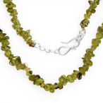18 inch uncut Peridots in solid sterling silver