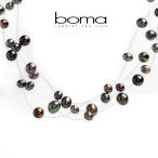 Boma freshwater pearls and solid sterling silver 19 inch necklace
