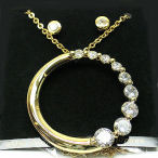 Designer 17inch crystal circle life set with post earrings