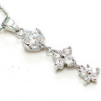 6 inch ball chain 1 inch drop cz