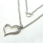 Austrian crystal heart on a four strand chain