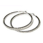 60mm Rhinestone hoop earring