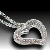 Adorable Crystal Heart, 18in. 2 strand chain