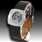 Black Leather band fun glitter, makes you happy to see what time it is! $38