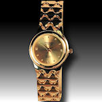Gold Embassy by Gruen classy 4 diamonds lady's watch