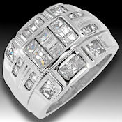 Wow, beautiful 7.96ctw CZ set in 16.1 grams solid 926 sterling silver size 11.5 if you want I will re-order, let me know your size