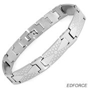 8242 $28 Ed Force Stainless Steel bracelet, 40.20g 8.5 in long 12mm wide, 2mm deep