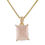 Lovely, petite  4.20ctw genuine pink Quartz with 18K gold over Sterling Silver. 18