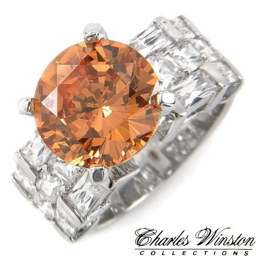 Rich, Bold & Elegant 15.72ctw CZ 10.02 ctw Center stone 5.70ctw CZ 11.4g Sterling Silver